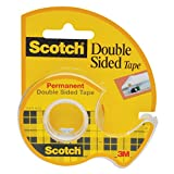 Office Products : Scotch Double Sided Long-Lasting Tape with Dispenser, Permanent, 3/4 x 300 Inches (237)