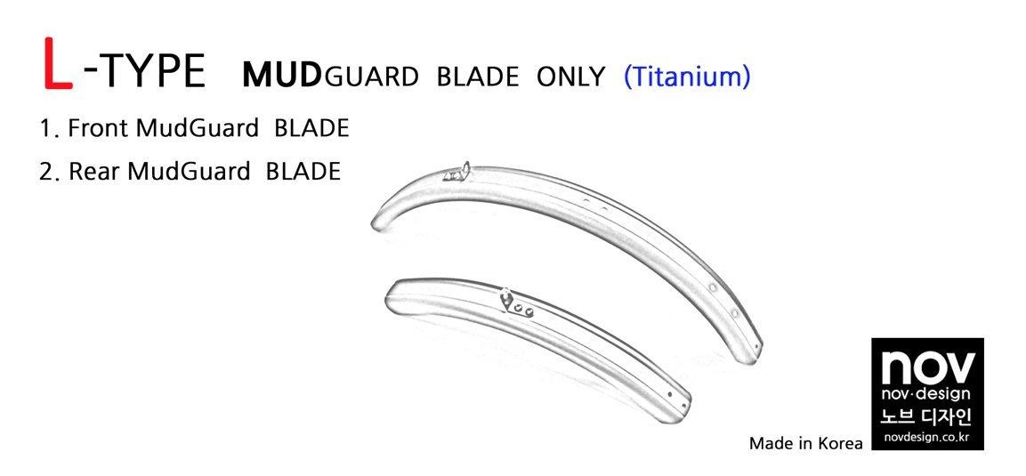 Nov L-Type Gold Titanium Mudguard Set for Brompton Folding Bike - Dino Kiddo