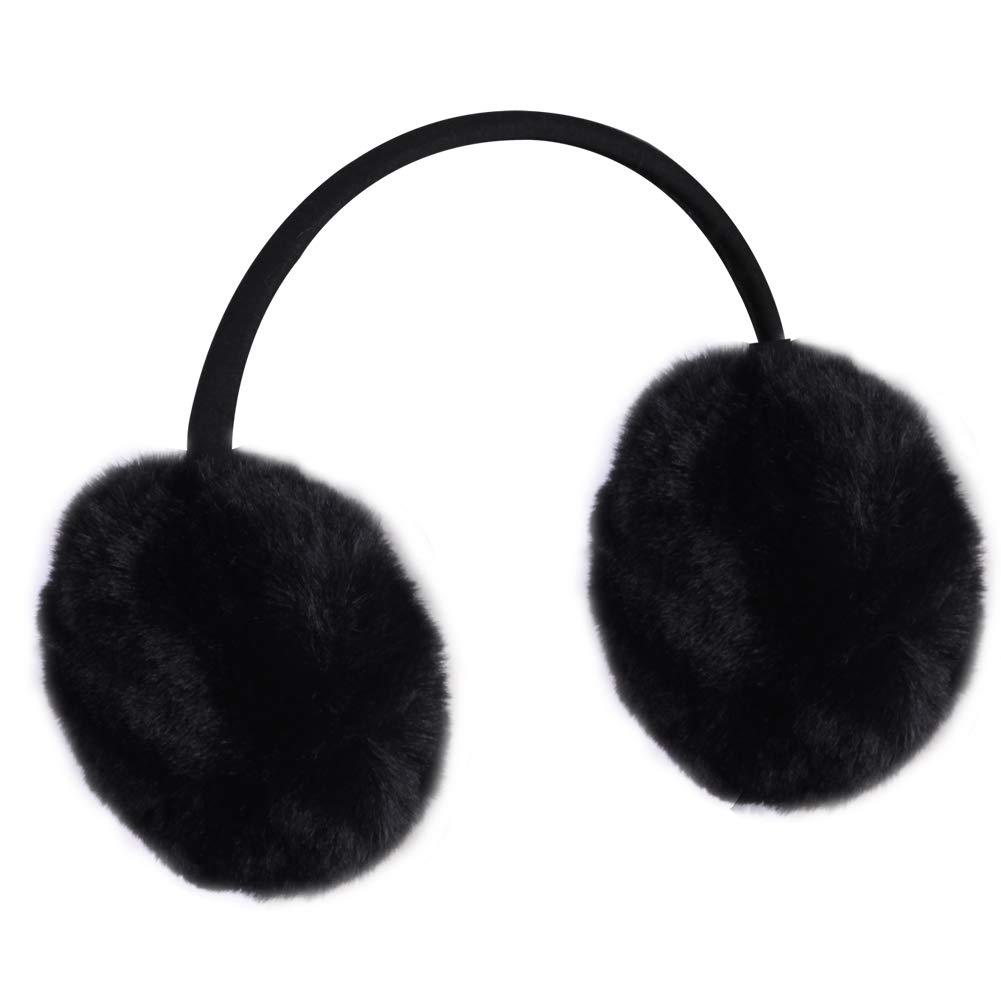 Warm Faux Fur Earmuffs,Lilyfur Winter Outdoor Unisex Solid Earmuff Ear Warmer Faux Fur Warmth Fuzzy