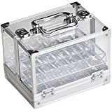 600pc Acrylic Chip Case/600 Count Chip Carrier with 6 Chip Trays by GSE