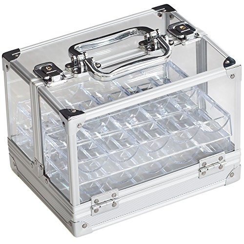 600pc Acrylic Chip Case/600 Count Chip Carrier with 6 Chip Trays by GSE by GSE Games & Sports
