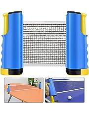 Weeygo Red de Tenis de Mesa, Repuesto Portátil Retráctil Table Tennis Net - Ping Pong Net para Entrenamiento, Longitud Ajustable 200 (MAX) x 14.5cm, Azul