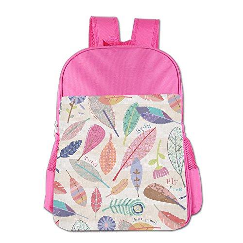 GABRIELA ROSALES Colorful Leaves Premium Unisex Children's Backpack Bag School Shoulder Schoolbag Bags Satchel