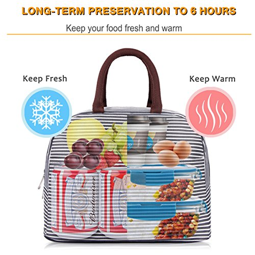 BALORAY Lunch Bag Tote Bag Lunch Organizer Lunch Bag for Women Perfect for Work Women(Upgraded Version) by BALORAY (Image #2)