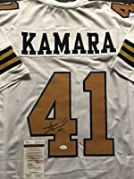 Autographed/Signed Alvin Kamara New Orleans Saints Color Rush Football Jersey JSA COA