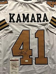 Autographed/Signed Alvin Kamara New Orleans Saints Color Rush Football Jersey JSA COA