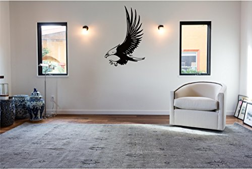 Flying Bald Eagle Wall Decal Sticker Home Decor 23