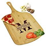 Custom Personalized Pizza Peel Bamboo Wood Paddle Board - Housewarming Pizza Lovers Gift - Engraved for Free