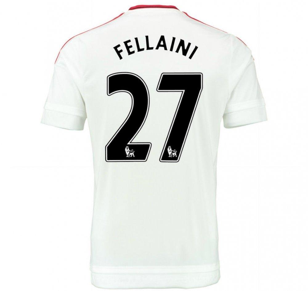 2015-2016 Man Utd Away Football Soccer T-Shirt Trikot (Marouane Fellaini 27) - Kids