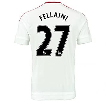 35a9a9ca5f0 2015-2016 Man Utd Away Football Soccer T-Shirt Maillot (Marouane Fellaini 27