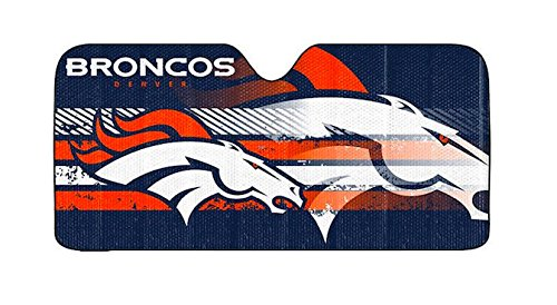 Bronco Windshield - Infinity Stock NFL Auto Sun Shade Universal Size Fit 58