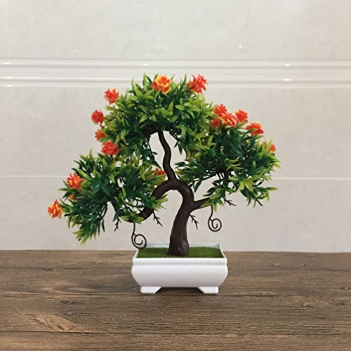 Artificial Fake Flowers Plastic Green Plants Bonsai Tree Desktopdecor by Suyunyuan Flowers