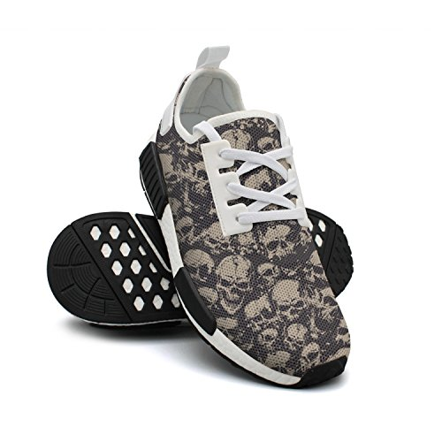 Mesh Sneakers Grunge Sneaker Screaming Fashion Skull Shoes Colorful FAAERD Breathable Lightweight Womens awqFzA7