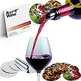 Wine Pourer Disc Set of 22 with 2 Designs – Best Drip Stop Pour Spouts – Thin Flexible and Reusable Drop Stop Disks