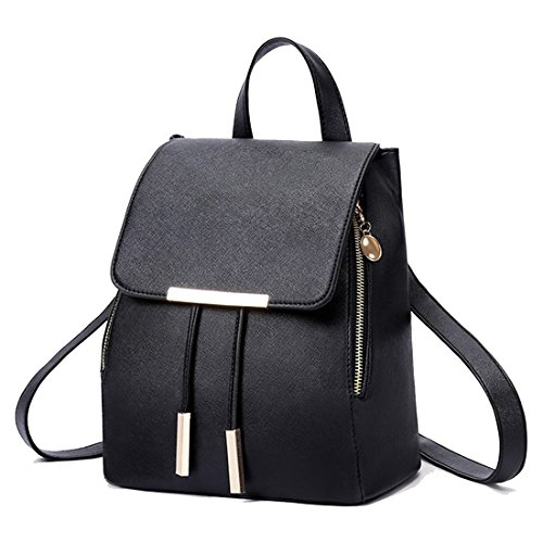 Peak Mall Casual Leather Backpack Shoulder Bag Handbag Stylish Lovely Daypack for Women and Girls