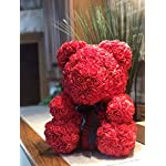 Rose-Flower-Bear-Fully-Assembled-16-inch-Hugz-Teddy-Bear-Over-20-Dozen-Artificial-Flowers-Best-Gift-for-Mothers-Day-Valentines-Day-Anniversary-Bridal-Showers-Red-wClear-Gift-Box
