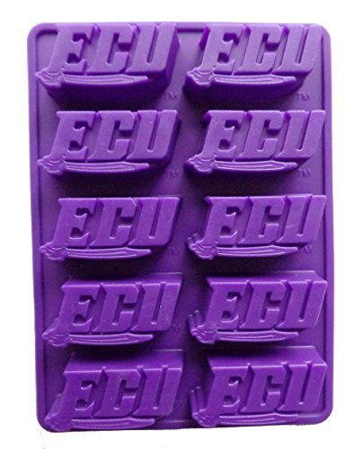 NCAA East Carolina Pirates Ice Trays & Candy Mold, One Size, (Pirate Chocolates)