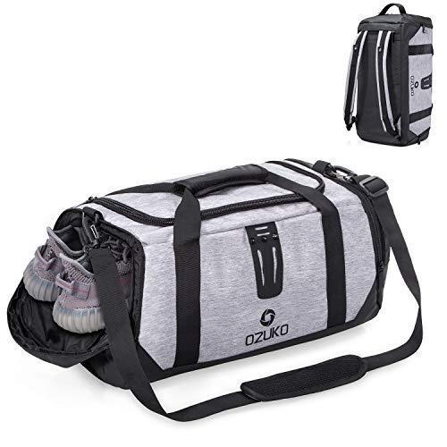 OFTEN Gym Bag Duffel BagTravel Luggage Sports Fitness Backpack Water Resistance Rucksack Crossbody Shoulder Bag Training Cabin Handbag with Shoe Compartment for Men Women [40L]