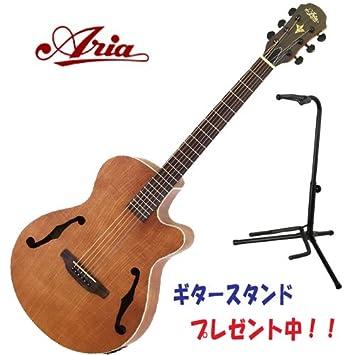 Aria fet-f1 N elecord - Guitarra electroacústica Natural: Amazon.es ...
