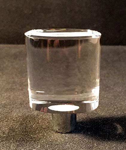 Lamp Finial-Modern Oval Crystal Polished Chrome Base