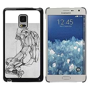 Caucho caso de Shell duro de la cubierta de accesorios de protección BY RAYDREAMMM - Samsung Galaxy Mega 5.8 9150 9152 - Drawing Pencil Body Image