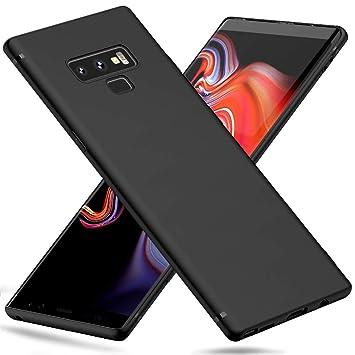 Peakally Funda Samsung Galaxy Note 9, Negro TPU Suave Funda para Samsung Galaxy Note 9 Carcasa Flexible Ligero Fundas [Resistente a arañazos] ...