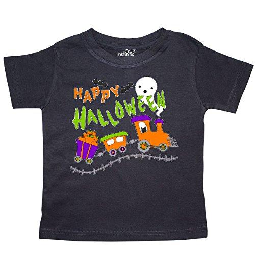 inktastic - Happy Halloween- Train with Pumpkins, Toddler T-Shirt 3T Black 2bdec -