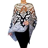 Plus Size Silver Shawl Grey Wedding Wrap Black Organza Evening Wear By ZiiCi
