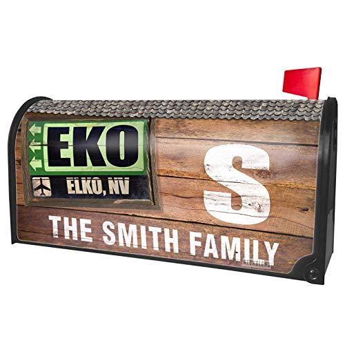 NEONBLOND Custom Mailbox Cover Airportcode EKO Elko, NV ()