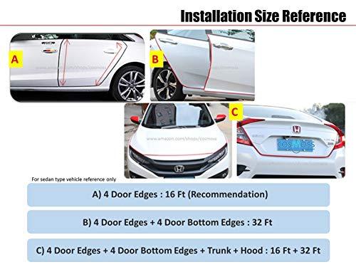 Full Size 6 Feet Clear U Shape Car Door Edge Guard Trim