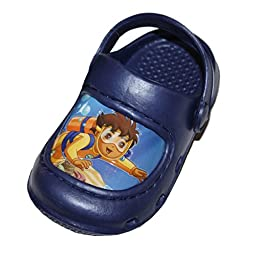 Go Diego Go Toddler Slippers Sandals Clogs Shoes Small 5-6 \