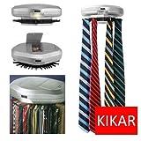 KIKAR Electric Motorised Tie Rack   Wall Mounted Tie/ Belt/ Scarf Organizer