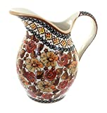 Polish Pottery Autumn Rose Pitcher