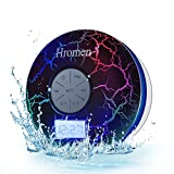 Hromen Bluetooth Speaker,2nd Gen IPX7 Waterproof Bluetooth Speakers, Bathroom Shower Speaker with FM Radio,wiereless Cool Cracking Backlit, Suction Cup,outdoor speaker, Good Gift