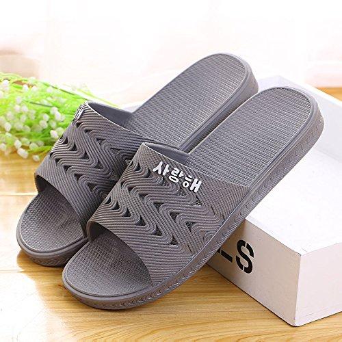 zapatillas Hong 47 baño de gris de Casa verano antideslizante Mei 38 fEpqcSwM