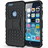 """iPhone 6S Armor Case -K-Xiang Defender[Heavy Duty] iPhone 6 Shockproof Protective Case Impact Resistant Dual Layer Armor Shell with Kickstand for Apple iPhone 6S 6 4.7""""(Black)"""