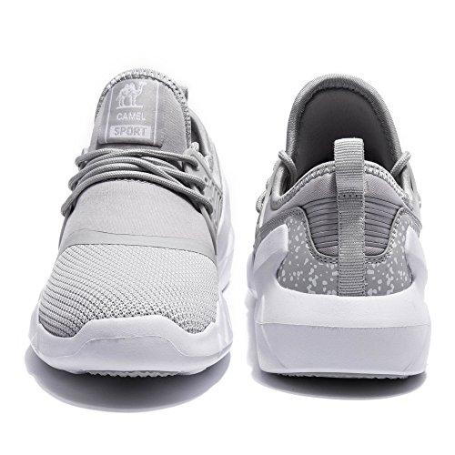 Kameel Lichtgewicht Loopschoen Wandelschoen Fashion Sneaker Voor Heren Grijs