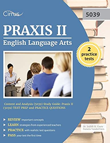 praxis ii english language arts content and analysis 5039 study rh amazon com Praxis II Study Material praxis ii english language arts study guide