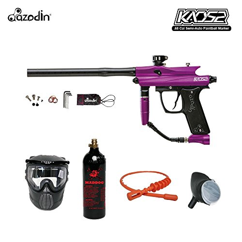 Gas Thru Grip (MAddog Azodin Kaos 2 Bronze Paintball Gun Package - Purple/Black)