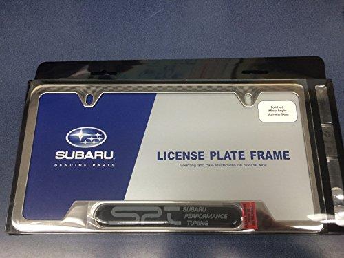 Subaru OEM Genuine Chome License Plate Frame SOA342L121 SPT logo Wrx Sti IMPREZA ALL MODELS