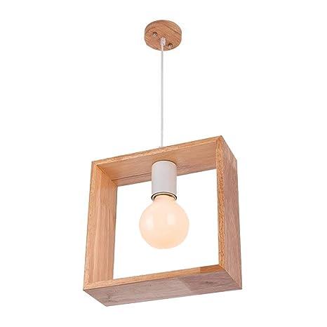 Luz pendiente de madera, Comedor Lámpara de techo Sala de te ...