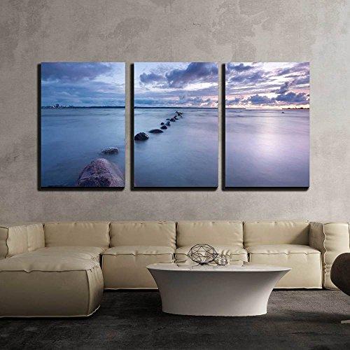Sea Sunset Photo x3 Panels