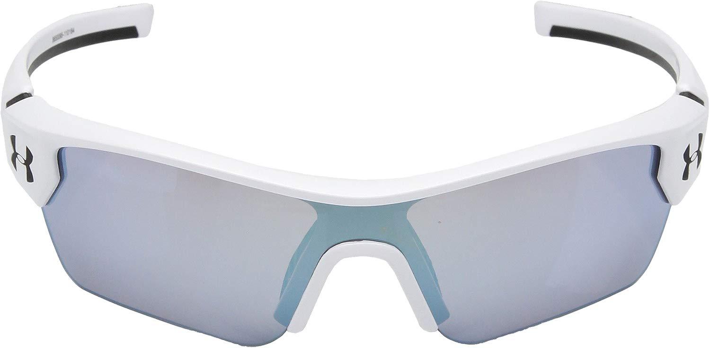 UA Menace Satin White  Black Frame  Baseball Tuned Lens