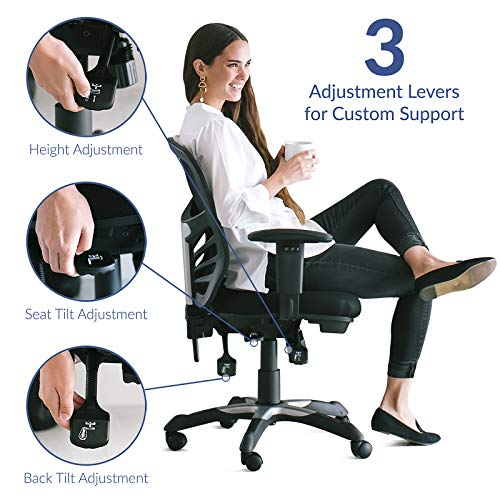 home, kitchen, furniture, home office furniture, home office chairs,  home office desk chairs 11 image Ergonomic Mesh Office Chair deals