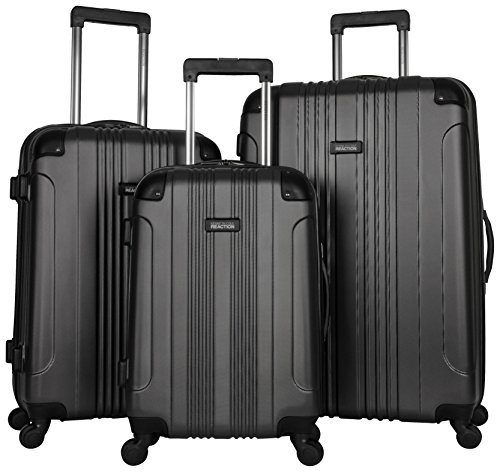 Kenneth Cole Reaction Out of Bounds Luggage 4-Wheel Abs 3-Piece Nested Set: 20'' Carry-on, 24'' 28'' Upright, Charcoal by Kenneth Cole REACTION