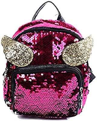 Aihifly Ligero Backpack Mujer Teen Glitter Sparkly Back Pack ...