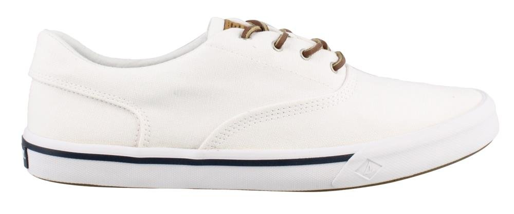 Sperry Top-Sider Men's Striper II CVO Washed Sneaker, White, 10 Wide US