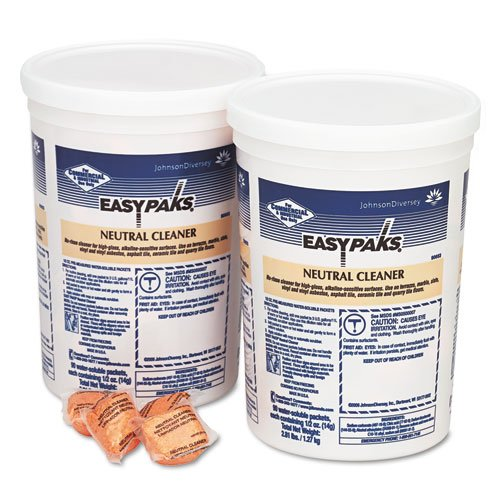 Diversy Easy Paks Neutral Cleaner.5 oz Packets, 90/Tub, 1 Included