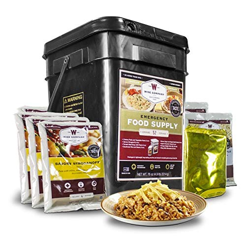 (Wise Company, Emergency Food Supply, Drink and Entree Variety, 52 Servings)