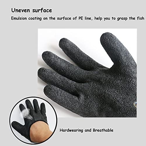 zszbace釣り手袋skidproof-プロフェッショナル防水キャッチ魚Gloves withマグネットhook-釣り狩猟手袋1piece- Easy to carry-ブラック
